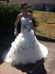 robe de mari e noir et blanc de mariée princesse d occasion noir et blanc meuse