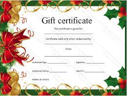 printable christmas gift vouchers christmas voucher template christmas gift certificate template