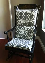 rocking chair cushion sets black