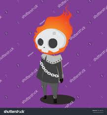 halloween cartoon character set ghost rider stock vector 322188254