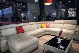 Bright Red Sofa Large White Sectional Sofa Coupled With Bright Red Floor Lamp