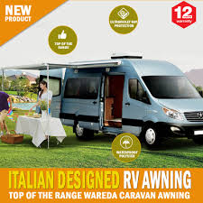 New Caravan Awnings New Caravan Awning Roll Out 3 5m X 2 5m Italian Designed Aluminium