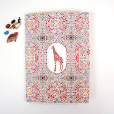 giraffe pattern notebook a5 plain notebook giraffe