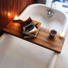 tub caddy reclaimed wood bath tray