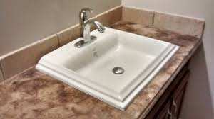 overmount sink on granite drop in sink granite countertop sink ideas