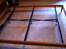 bed frame middle support medium size of bed frames metal bed frame