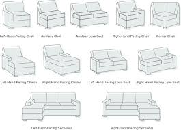 left facing chaise sectional sofa wonderful left facing or right sectional sofas modgsi intended for