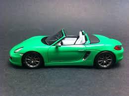 green porsche boxster porsche boxster s 981 2013 vert 1 43 spark wax20130021 selection rs