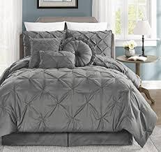 amazon com sydney 7 piece pintuck duvet cover set w corner ties