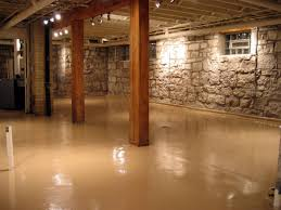 Basement Framing Ideas Unfinished Basement Flooring Options With Basement Concrete Floor