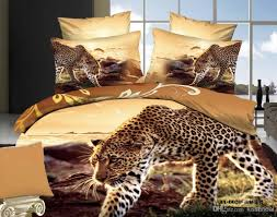 bedding d forters leopard printed cotton fabric bedding set