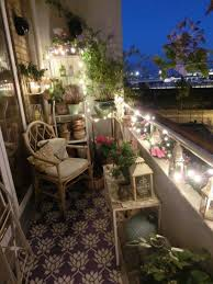 Decorating Home With Plants Balcony With Plants And String Lights Also Chair Decorating Tips