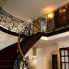 Wrought Iron And Wood Banisters Wrought Iron Stair Railings Simple Wrought Iron Stair Railings