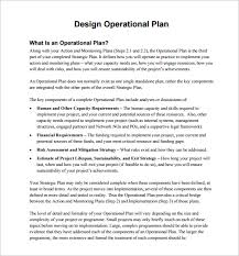 operational plan template 11 free word pdf documents download