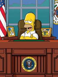 homer simpson white house oval office us president blank template