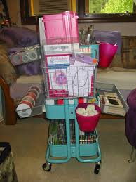 scrapbooking grandma crafts ikea raskog cart storage