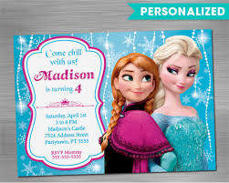 9 frozen birthday invitations