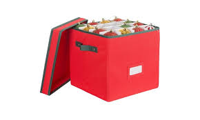 Christmas Ornament Storage Box Container Store by Christmas Ornament Storage Box With Lid Hold Up To 64 Ornaments