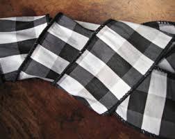 and black plaid ribbon silk plaid ribbon etsy