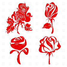 stylish symbolic roses sketch vector clipart image 17072 u2013 rfclipart