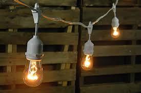 edison light string edison drop string lights 48 foot white wire warm white