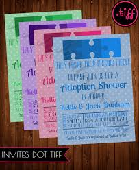missing puzzle piece adoption shower invitation printable