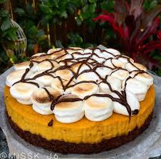 healthy halloween pumpkin s u0027mores cheesecake
