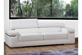 canapé cuir blanc 3 places gracieux canapé convertible cuir blanc a propos de deco in