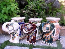 End Tables Designs Large Porcelain Stool Asian Side Elephant End