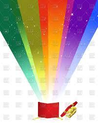 christmas gift box with rainbow vector image 87660 u2013 rfclipart
