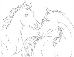 horse color pages printable running horses coloring kids