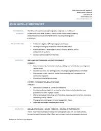 photographer resume samples tips templates photographer cover letter