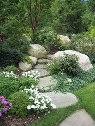 Boulder Landscaping Ideas Traditional Landscape Yard With Endless Summer Hydrangea Fence