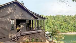 1237 best log house living images on log cabins serene lakefront hideaway southern living