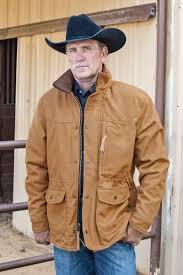 Leather Barn Coat Carroll Leather U0027s Smitty Wool Barn Jacket Has A Plaid Flannel