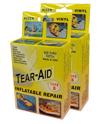 How To Repair Tear In Leather Chair Amazon Com Tear Aid Repair Type B Vinyl Inflatable Kit Sports
