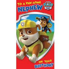 paw patrol nephew birthday card danilo