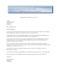 economic hardship sample letter economic hardship letter 0775
