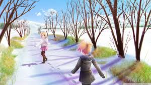 winter anime wallpaper hd anime winter scene 4k hd desktop wallpaper for 4k ultra hd tv