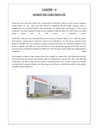 honda siel cars india ltd greater noida internship report