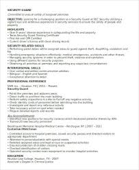 Assembly Line Resume Security Guard Skills 8 Hour Arizona Unarmed Security Guard