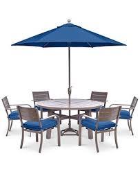 Macys Patio Dining Sets Closeout Ocean Port Outdoor Aluminum 7 Pc Dining Set 60
