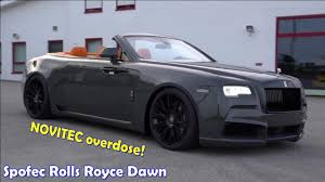 spofec rolls royce overdosed on novitec spofec rolls royce dawn youtube