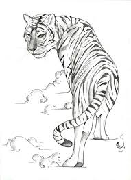 tiger designs tattoos sketch tiger 147 femoku jpg drawing