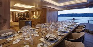 motor yacht joy exceptional woodwork surrounding the formal