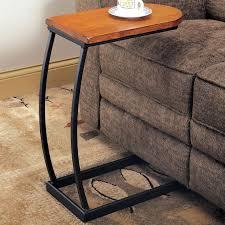 distressed oak and black metal sofa table coffee tables coa 900279 7