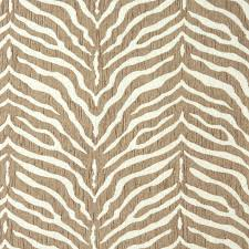 Upholstery Fabric For Armchairs Zebra Natural Beige And White Animal Print Chenille Upholstery