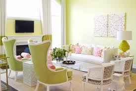 Lime Green Striped Curtains Striped Curtains Contemporary Living Room Pittsburgh Paints