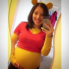 winnie the pooh costume easy maternity halloween costumes to