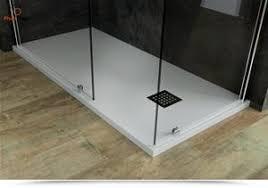 piatto doccia rettangolare 70 x 80 doccia 80 x 120 cm stein effetto pietra bianco profilo ribassato